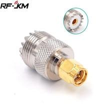 Uhf so-239 so239 fêmea ao adaptador coaxial masculino do conector da tomada de sma