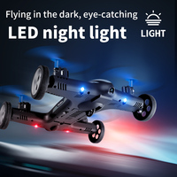 4DRC 2-in-1 2.4G RC Drone Air-earth Flying Car 4K HD Camera Dron Quadcopter con luce notturna a LED giocattoli per elicotteri per bambini