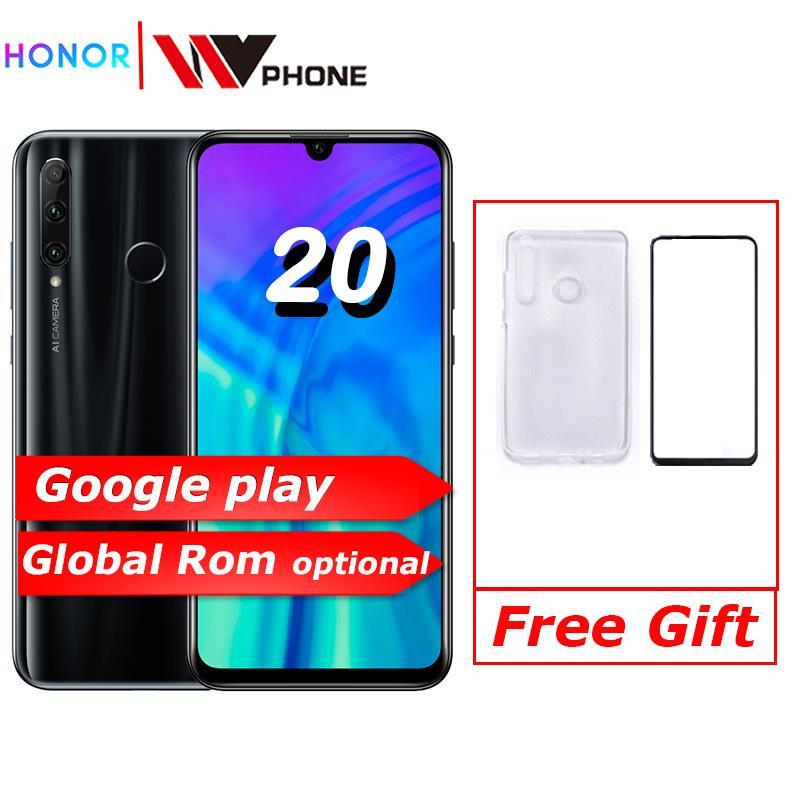 Original honour 20i honour 20 lite téléphone portable 6.21 pouces Android 9.0 FM visage empreinte digitale déverrouiller Smartphone