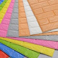 70*77 см DIY самоклеющиеся 3D кирпичные настенные наклейки Декор для гостиной пенопластовое водонепроницаемое покрытие для стен для детей Rm tv Background-W001