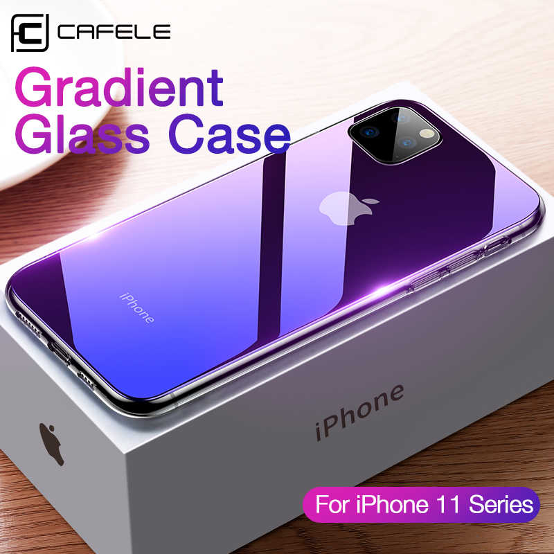 CAFELE Case for iPhone 11 pro max Protect Case Luxury Soft Edge + Gradient Glass Back Cover for Apple iPhone 11pro Anti-scratch
