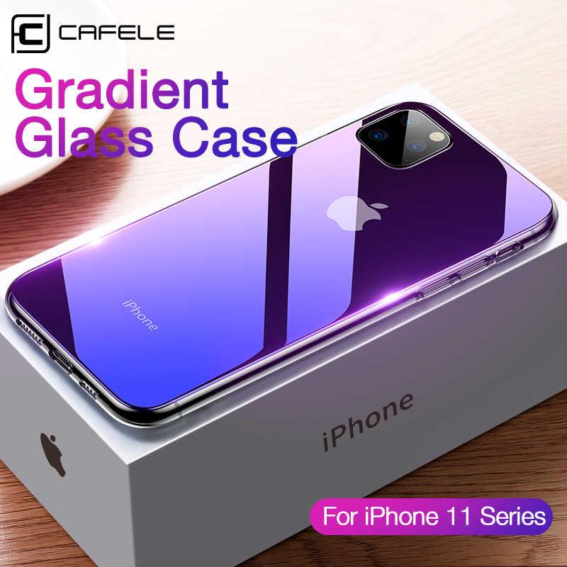 CAFELE dégradé verre étui pour iPhone 11 pro max luxe bord souple + verre coque arrière pour Apple iPhone 11 pro anti-rayures