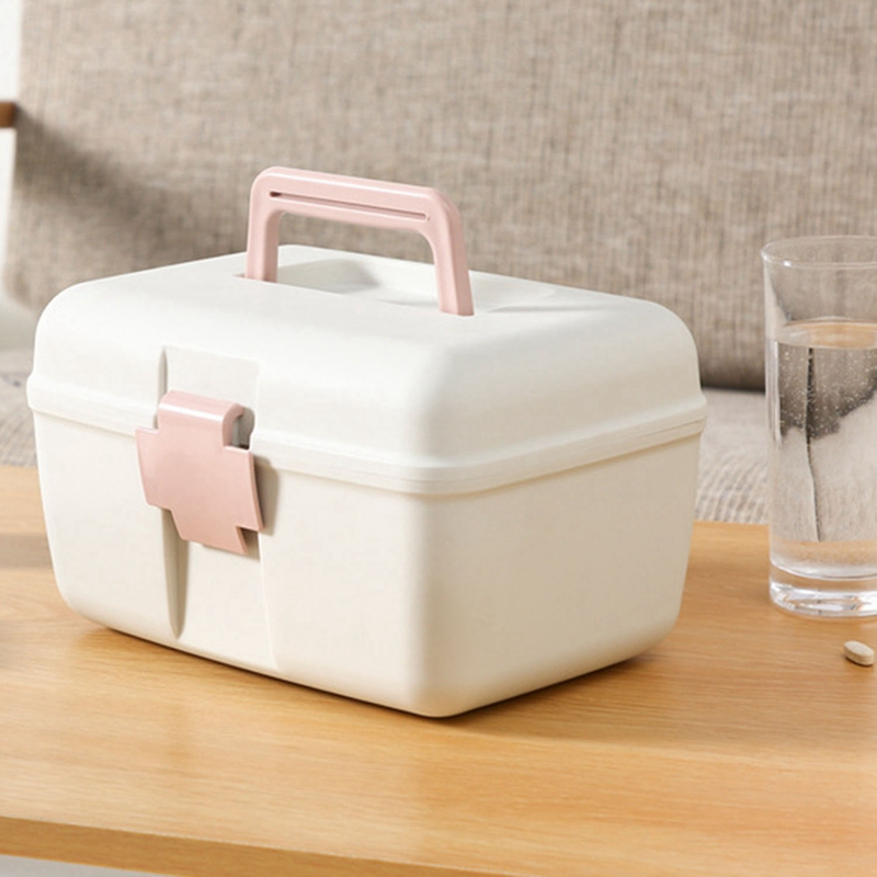 First Aid Kit Home Box Organizer Portable Storage Box First Aid Kit Plastic Emergency Kit With Handle Multi-Layer Medicine Chest