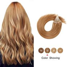 Hair-Extensions Micro-Ring Links Human Bead Straight Gazfairy Virgin-Hair Keratin 16''-24''