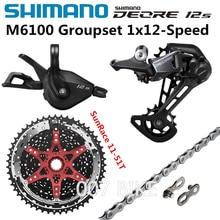 SHIMANO DEORE M6100 مجموعات 11 50T 11 51T دراجة هوائية جبلية مجموعات 1x12 Speed الشمس sunracing CSMZ901 M6100 Derailleur الفرامل