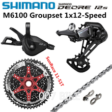 SHIMANO DEORE M6100 Groupset 11 50T 11 51T הרי אופני Groupset 1x12 Speed שמש SunRace CSMZ901 M6100 הילוכים בלם