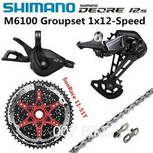 SHIMANO DEORE M6100 Grupo 11 50T 11 51T bicicleta de montaña grupo 1x12 Speed sol SunRace CSMZ901 M6100 freno desviador