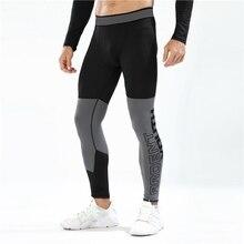Компрессионные Леггинсы, штаны для бега, мужские Леггинсы для бодибилдинга, бега, спортивные мужские Леггинсы для тренажерного зала, фитнеса, тренировок, быстросохнущие брюки