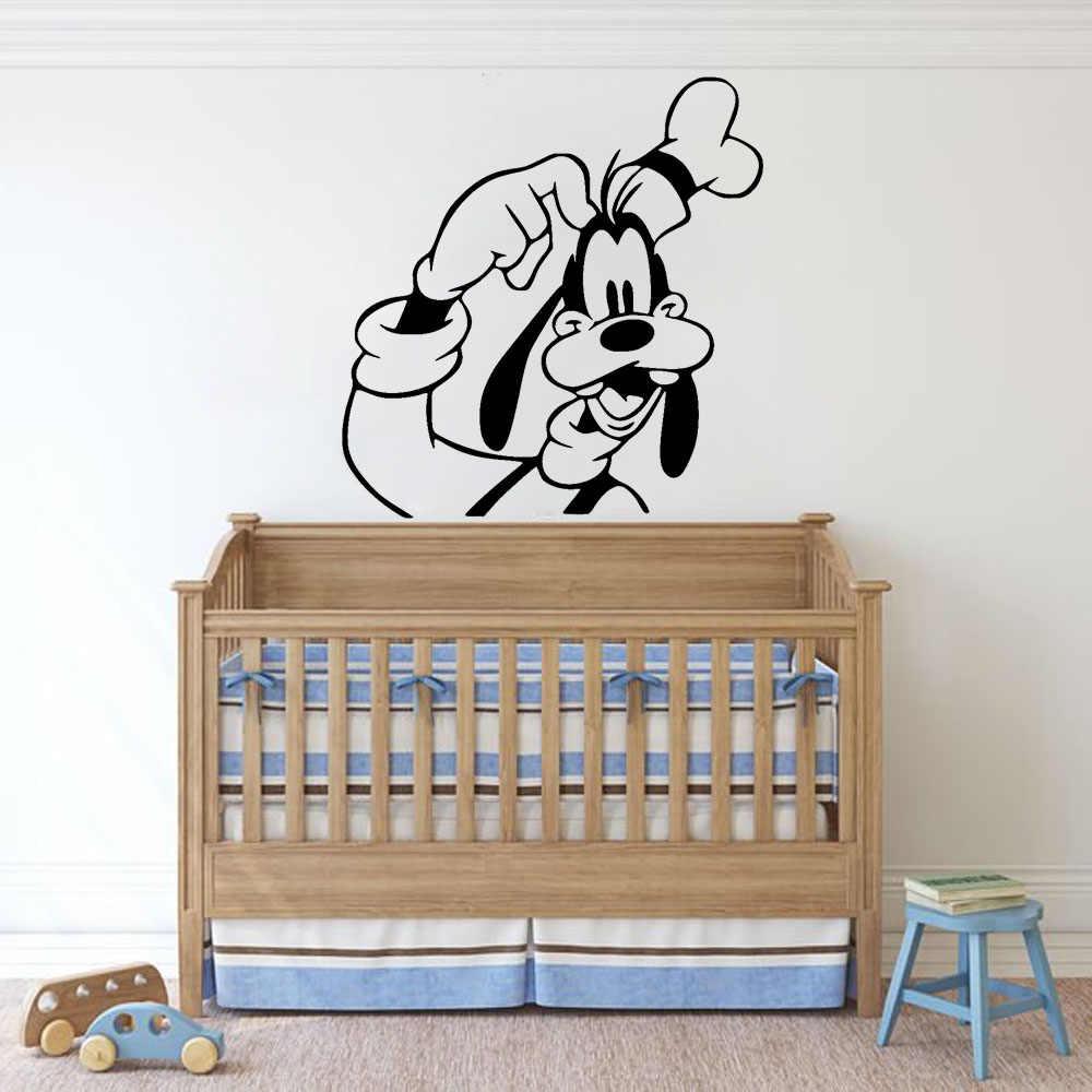 الكرتون جوفي الجدار لصائق الطفل أطفال غرفة الحضانة غرفة نوم الداخلية الديكور الفينيل ملصقات جدار القابلة للإزالة لطيف الكلب جدارية S493