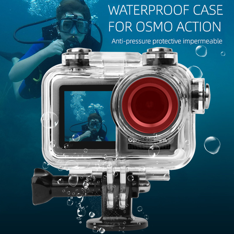 Waterproof Housing Case For OSMO Action Camera Underwater Photography Diving Protective Shell Case NSV775