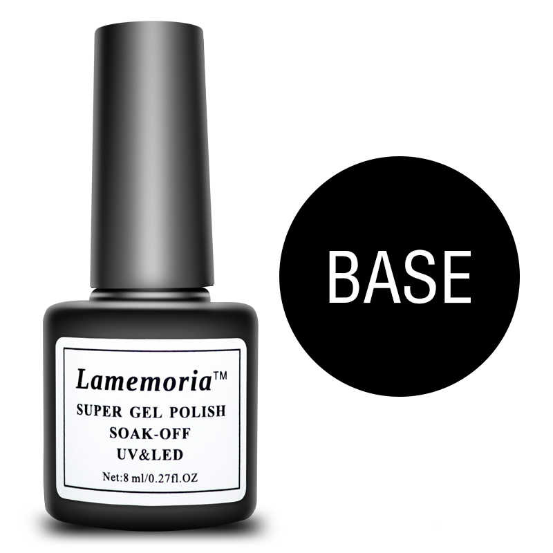 Lamemoria Gel Nail Polish 8ml Base Coat Gel Polish Nail Art Semi Permanent Varnish Soak Off Transparent Nail Primer