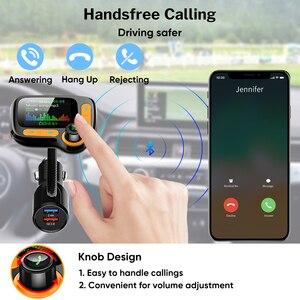 Image 5 - Deelife Bluetooth eller serbest araç kiti Fm verici modülatör için otomatik USB MP3 oynatıcı BT 5.0 adaptörü eller serbest ses alıcısı