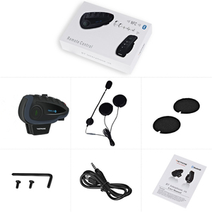 Image 5 - 2pcs VNETPHONE V8 SV Intercom without Remote Control 5 Way Group Talk Bluetooth Motorcycle Helmet Headset FM NFC 1.2KM