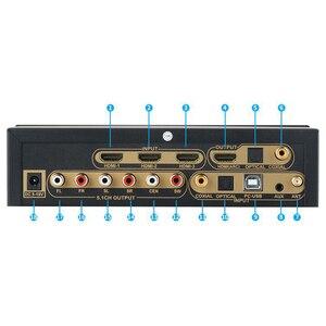 Image 2 - HD915 HDMI 5.1CH o Decoder Bluetooth 5.0 Reciever DAC DTS AC3 FLAC APE 4Kx2K HDMI to HDMI Extractor Converter SPDIF ARC(EU P