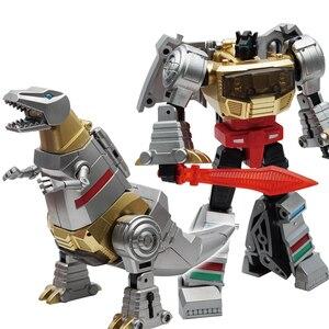 Image 1 - Transformacja dinozaurów metalowa farba Grimlock MF25 metalowa deformacja figurka transformator G1 zabawka