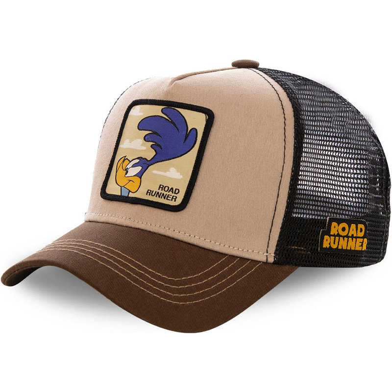 capslab-road-runner-roa2-looney-tunes-brown-trucker-hat