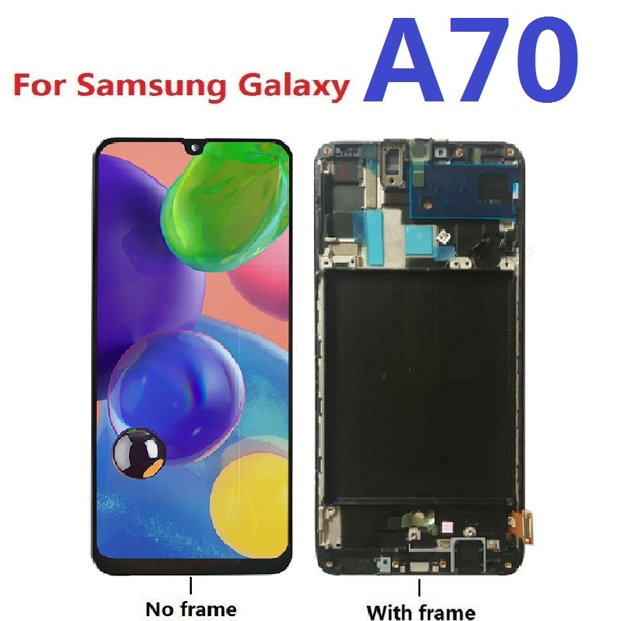 Tested For <font><b>Samsung</b></font> Galaxy <font><b>A70</b></font> SM-A705F A705F/DS A705G A705FD <font><b>LCD</b></font> Display Touch Screen Digitizer Assembly Frame Replacement Parts image