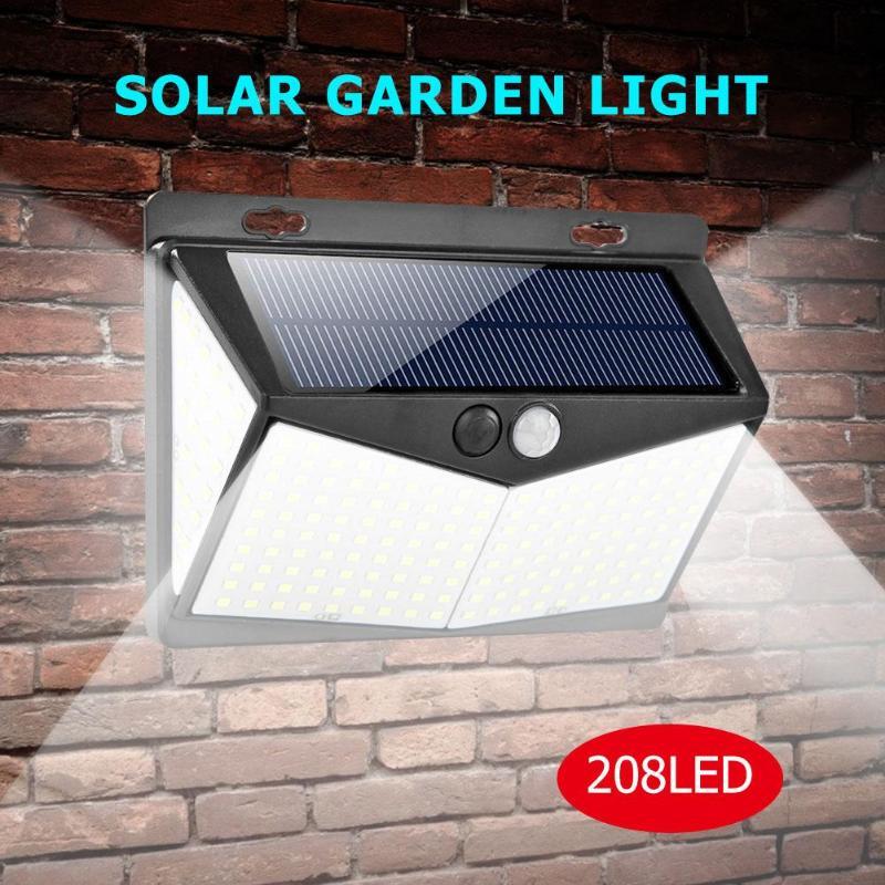 1//2//4pcs 20-208LED Solar Motion Sensor Wall Light Garden Waterproof Yard Lamp