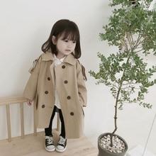 Jacket Windbreaker Trench-Coat Outerwear Spring Girls Boys Children Autumn Fashion