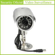 Plug and Play USB Camera Outdoor Waterproof 3.6mm HD Lens 24 LED Lamps Bullet Cameras support SD Memory Card Surveillance Camera(China)