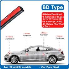 Car Door BD Shape Rubber Universal Sound Insulation Sealing Strip Car Door Seal Soundproof L Type Seal Car Door Rubber Strips