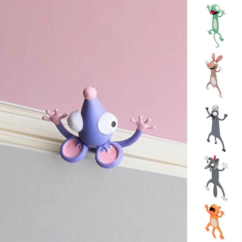 3d Stereo Kawaii Cartoon Lovely Animal Bookmark Original Cute Cat Pvc Material Children School Stationery For Kids Gift