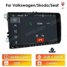 """9"""" Android 10 2din Car Auto Audio for VW POLO GOLF 5 6 POLO PASSAT B6 CC JETTA TIGUAN TOURAN EOS SHARAN SCIROCCO CADDY GPS Navi"""