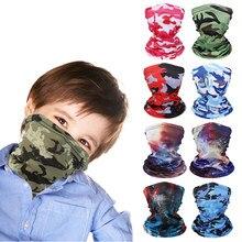 1pc crianças inverno rosto máscara de boca capa de pescoço cachecol mágico crianças rosto cobrindo quente bandana headbands ciclismo ao ar livre acessório