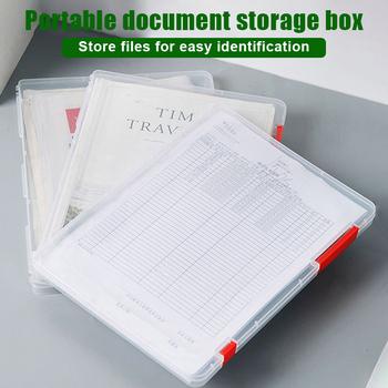 Schowek na dokumenty przeźroczyste tworzywo sztuczne teczka na dokumenty przenośne organizery papierowe FKU66 tanie i dobre opinie Plik skrzynka Folder