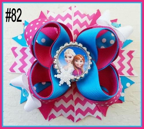 """B группа 30 шт 4,"""" Вдохновленный Бутик слоистых волос лук символ волосы луки мультфильм девушка заколки для волос-B"""