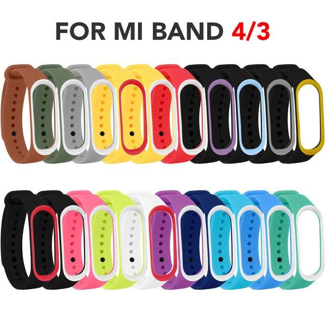 20pcs/Lot TPU Wrist Starp For Mi Band 4 Silicone Sport Colorful Strap Wristband Accessories for Xiaomi Mi Band 3 Smart Bracelet