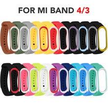 Bracelet de poignet en Silicone TPU pour Mi Band 4, coloré, accessoires pour Bracelet connecté Xiaomi Mi Band 3, 20 pièces/lot