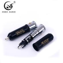Conector de enchufe macho para Cable de Audio, Conector de cobre puro RCA 0152AG XSSH Audio YIVO HIFI de alta gama, chapado en plata
