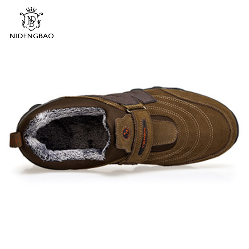 Brand Winter Warm Snow Shoes Men Fashion Casual Male Cotton Shoes Ankle Boots Men Fur Plush Sneakers Walking Shoes for Dad in Men 39 s Casual Shoes from Shoes
