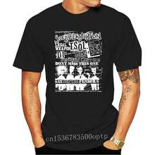 Maglietta parafanghi ultimo spettacolo TSOL DI arma legale Old Punk Rock Concert volantino camicia nera