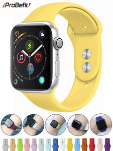 Sports-Band Watchband-Strap 42mm-Bands Rubber Soft-Silicone 1-38mm for Apple 40mm 44mm