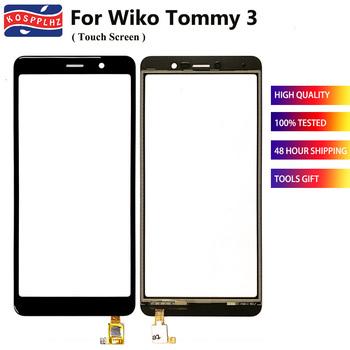5 45 #8222 nowy dla Wiko Tommy 3 czujnik ekranu dotykowego wymienny szklany Panel wysokiej jakości dla Wiko Tommy3 osłona na przód telefonu komórkowego szkła tanie i dobre opinie KOSPPLHZ CN (pochodzenie) For Wiko Tommy 3 ≥5 Ekran dotykowy black