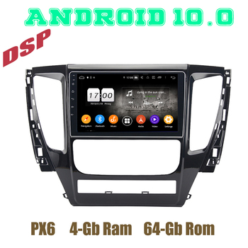 PX6 Android 10.0 Car GPS Radio HD Player for Mitsubishi Pajero Sport 2017 2018 2019 2020 DSP 4+64GB Auto Stereo Multimedia image