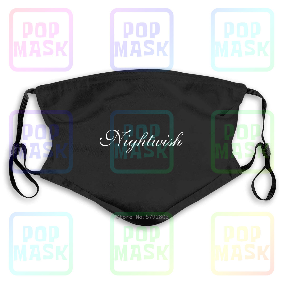 Dust Mask With Filter Nightwish , Washable Reusable Mask