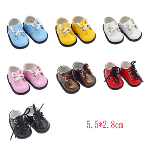 Image 3 - 5.5*2.8cm PU Cute Doll Strap 14 inch Shoes For 1/6 Doll EXO dolls fit 14.5inch girl dolls boots Clothing Accessories toys Boots