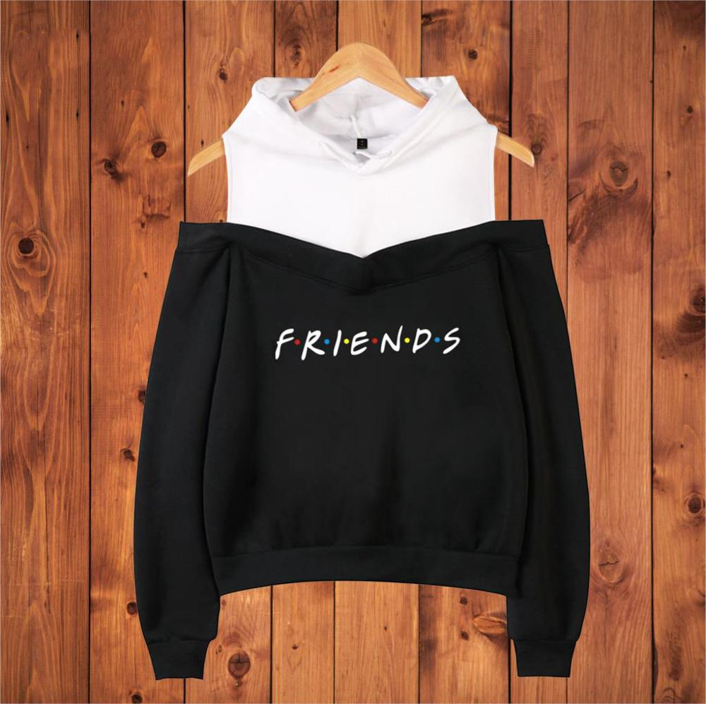 Best Friends 2018 New Friends Letter Print Women Hoodies Sweatshirt Winter Autumn Tv Show Gift Friends Long Sleeve Pullovers