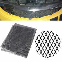 Universal 100x33cm Aluminum Car Vehicle Body Grille Net Mesh Grill Section Net Racing Grills Black/Silver Car Grille Net