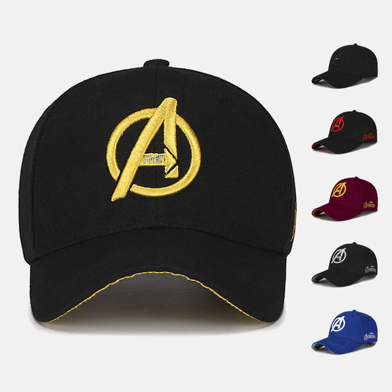 New Unisex Marvel Avengers LOGO Embroidery Casual Outdoor Baseball Caps Streetwear Snapback Caps For Adult Trucker Cap