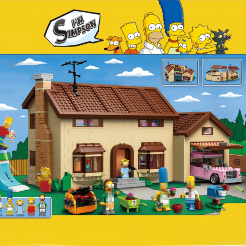 Lepinblocks 16005 The Simpsons House Building Block Model Bricks For Child Toy Gift Compatible Legoinglys 71006 Brithday Gift