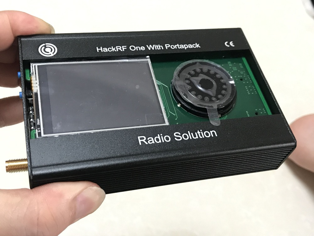 2019 Latest Version PORTAPACK For HACKRF ONE SDR Software Defined Radio + Metal Case + 0.5ppm TXCO