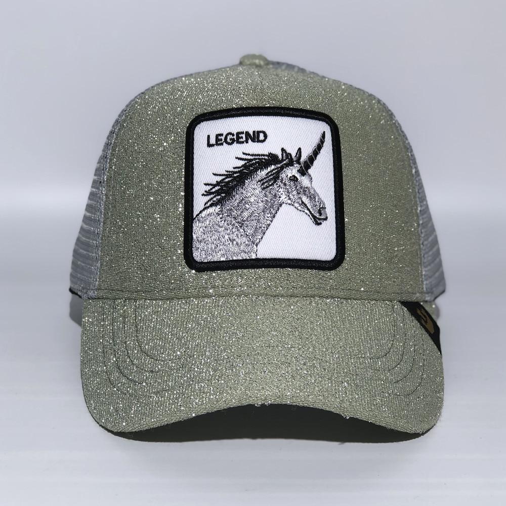 New Legend unicorn Animal Embroidered Fashion Mesh Baseball Cap Lovely Animals Caps Women & Men Snapback Cap Dad Hat Adjustable