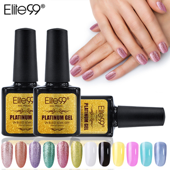 Elite99 Gel Nagellack Set Shiny Platin Nägel Kunst Für Maniküre Poly Gel Lak UV Farben Top Basis Mantel Primer hybrid Lacke
