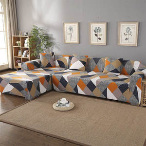 Elastic-Sofa-Cover Chaise Living-Room L-Shaped Geometric Sectional-Corner for Longue