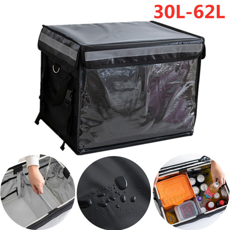 Large Waterproof Picnic Cooler Bag Outdoor Insulated Thermal Food Drink Delivery Box Travel Thicken Camping Refrigerator Bags