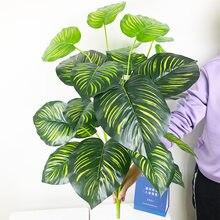 75 см 24 головы тропические искусственные растения большие monstera